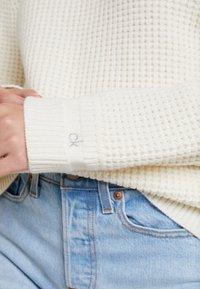 Calvin Klein - TEXTURE CREW NECK - Jumper - white - 5
