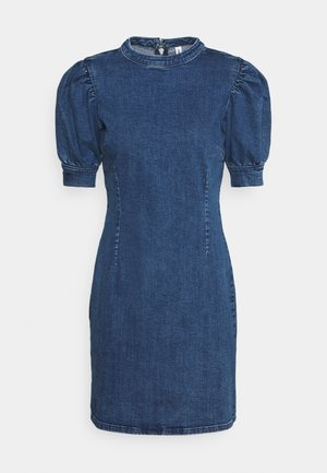 ONLINDY LIFE PUFF DRESS  - Vestito di jeans - dark blue denim
