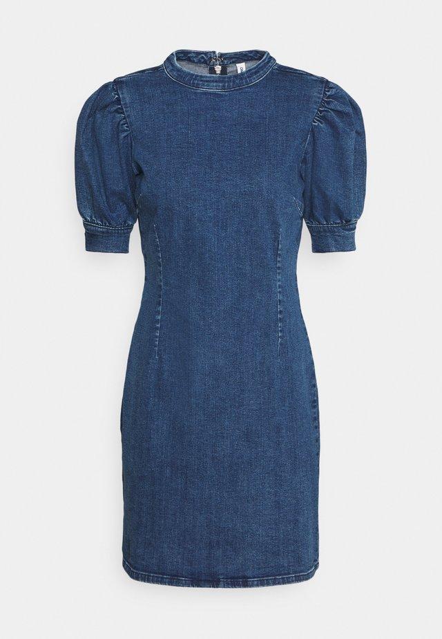 ONLINDY LIFE PUFF DRESS  - Jeanskleid - dark blue denim