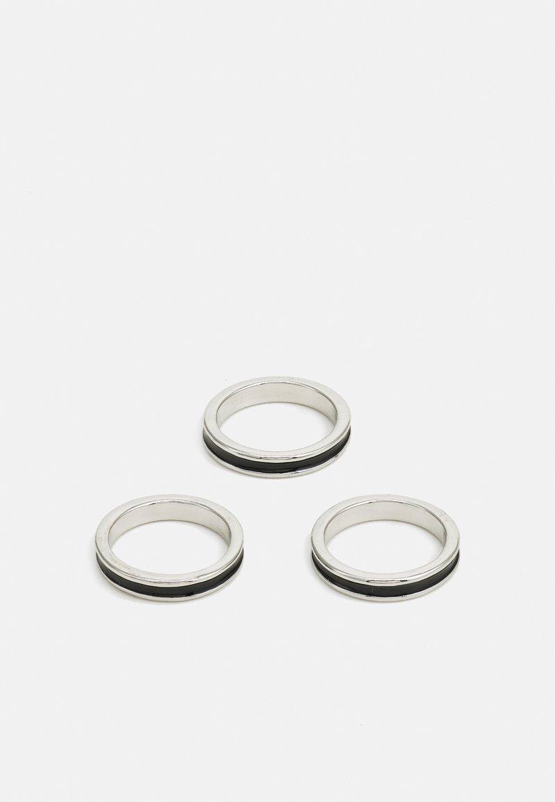 Burton Menswear London - MIXED LINE 3 PACK - Ringe - silver-coloured