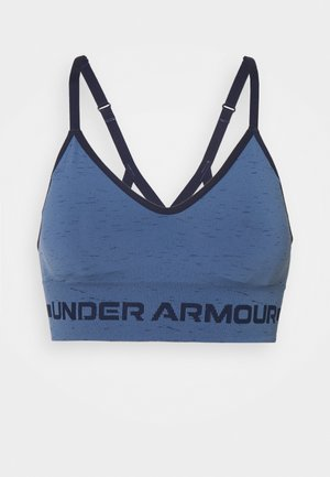 SEAMLESS LOW LONG BRA - Light support sports bra - mineral blue