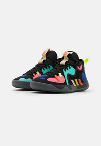 adidas Performance - HARDEN STEPBACK 2 UNISEX - Basketbalové boty - core black/yellow/active mint - 1