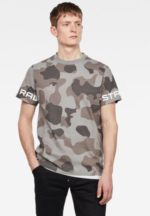 CAMO GSTAR - Print T-shirt - charcoal birch camo