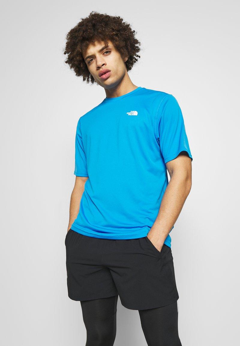 The North Face - MEN'S FLEX II - Print T-shirt - clear lake blue
