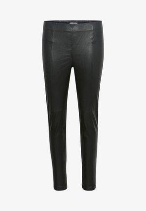 TESSAPW STRETCH  - Leather trousers - black