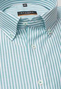 Eterna - SLIM FIT - Shirt - türkis/weiss - 4