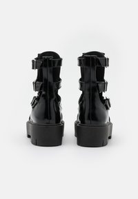 Topshop - BABE CUT OUT BUCKLE BOOT - Lace-up ankle boots - black - 3