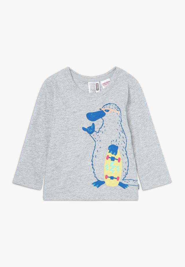 CREW TEE LOGO BABY - Pitkähihainen paita - mottled grey