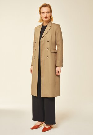 Płaszcz wełniany /Płaszcz klasyczny - beige
