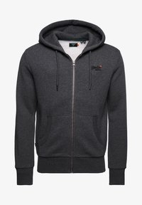 Superdry - CLASSIC ZIPHOOD - Zip-up hoodie - dark marl - 2