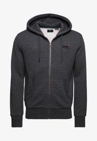 CLASSIC ZIPHOOD - Zip-up sweatshirt - dark marl