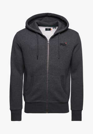 CLASSIC ZIPHOOD - veste en sweat zippée - dark marl
