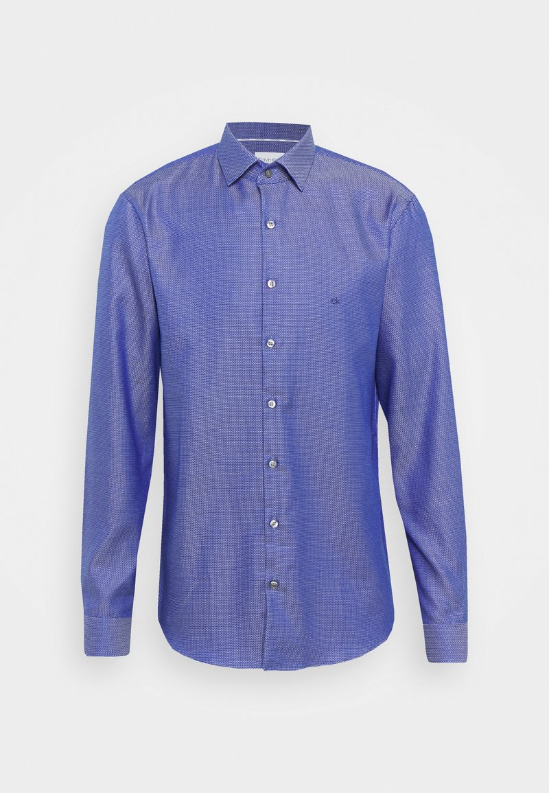 Calvin Klein Tailored - STRUCTURE EASY CARE SLIM - Formal shirt - blue