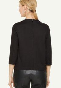 comma - PONTE  - Long sleeved top - black - 3