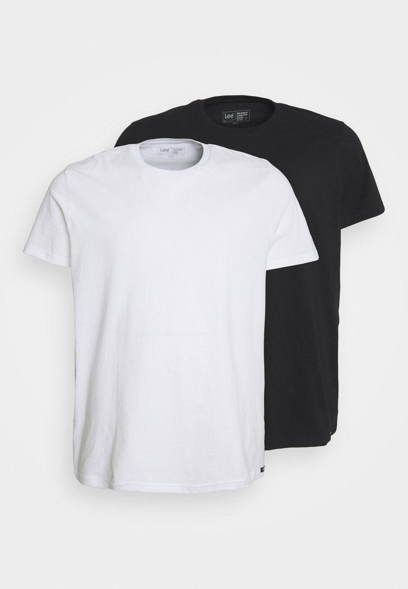 Lee - TWIN CREW 2 PACK - T-shirt basic - black/white