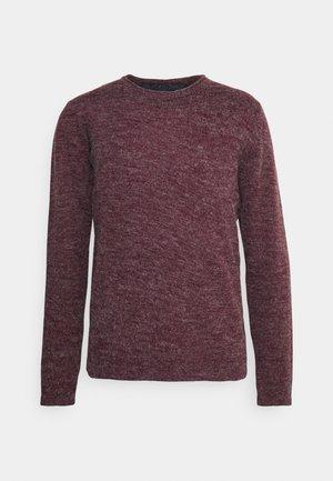 MONTREL - Stickad tröja - deep maroon/french navy