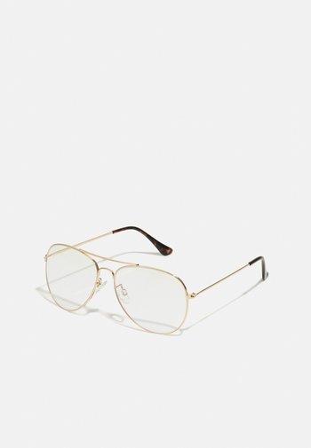 Okulary z filtrem światła niebieskiego - gold-coloured