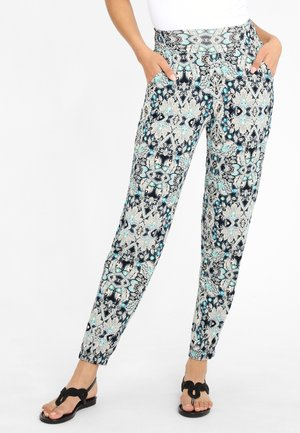 Leggings - Trousers - marine-bedruckt