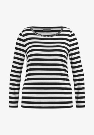 T-shirt à manches longues - black/offwhite ringel