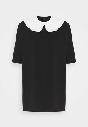 VMINFINITY OVERSIZED COLLAR - Blouse - black/snow white