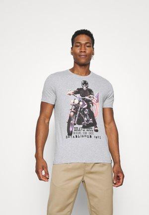 BRANDOX - T-shirt z nadrukiem - light grey marl