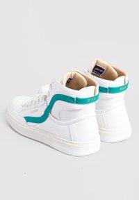 Superdry - High-top trainers - white/aqua - 1