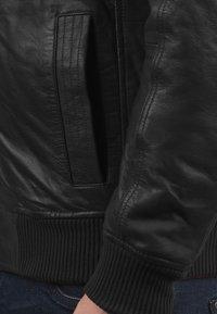 Solid - CAMASH - Leather jacket - black - 3