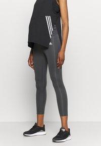 adidas Performance - MATERNITY - Tights - grey six/black - 0