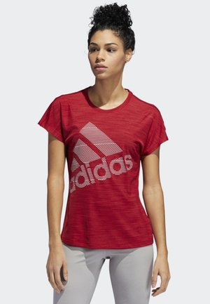 BADGE OF SPORT T-SHIRT - Printtipaita - red