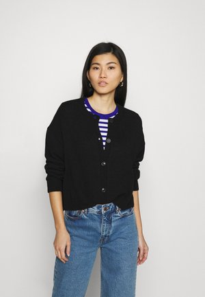 ROUND NECK - Cardigan - black