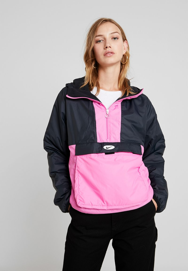 Nike Sportswear - ANORAK - Light jacket - black/china rose