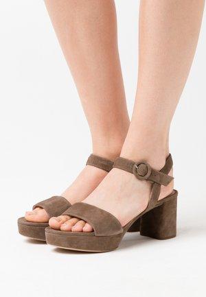 NENES - Platform sandals - taupe