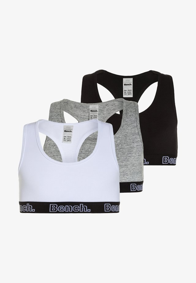 3 PACK - Top - black/grey/white