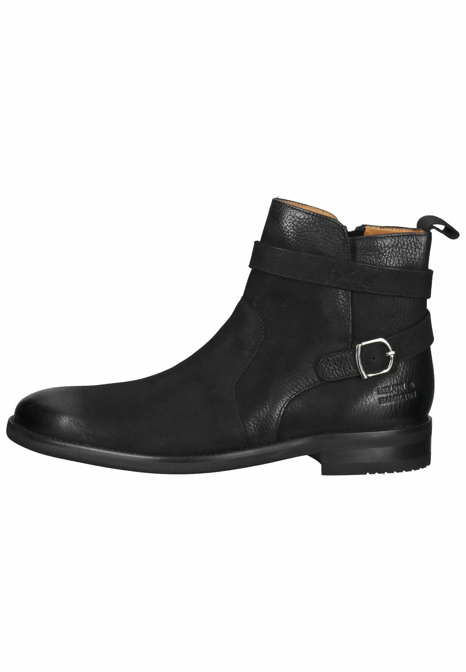 Herren Cowboy-/Bikerstiefelette - como black henry