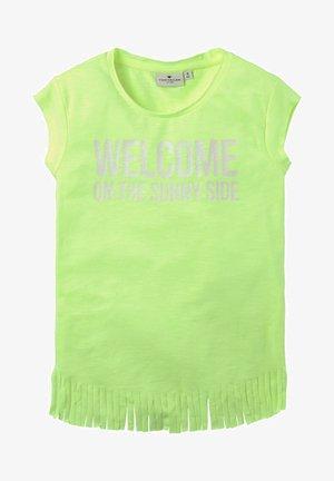 FRANSEN - Print T-shirt - fiery lime neon green