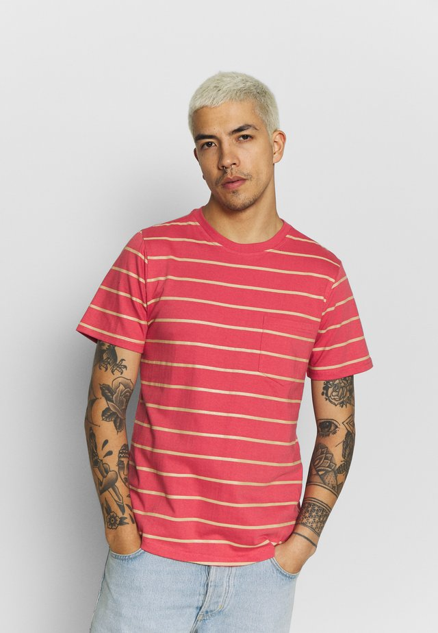 STRIPED - T-shirt imprimé - orange
