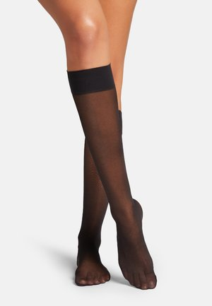 SATIN TOUCH - Knee high socks - black