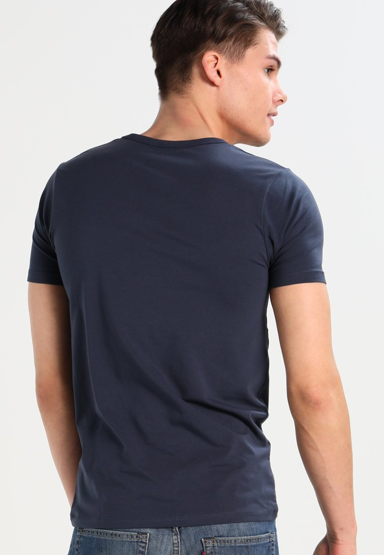 Jack & Jones BASIC V-NECK  - Basic T-shirt - navy blue ATgkb
