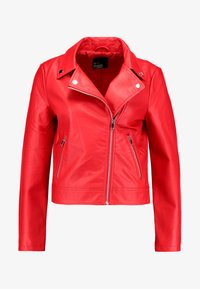 Even&Odd - Imitatieleren jas - red - 4