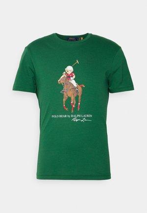 Print T-shirt - verano green