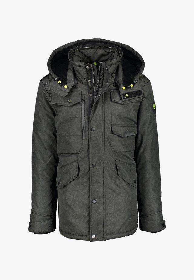 Winter jacket - brown melange