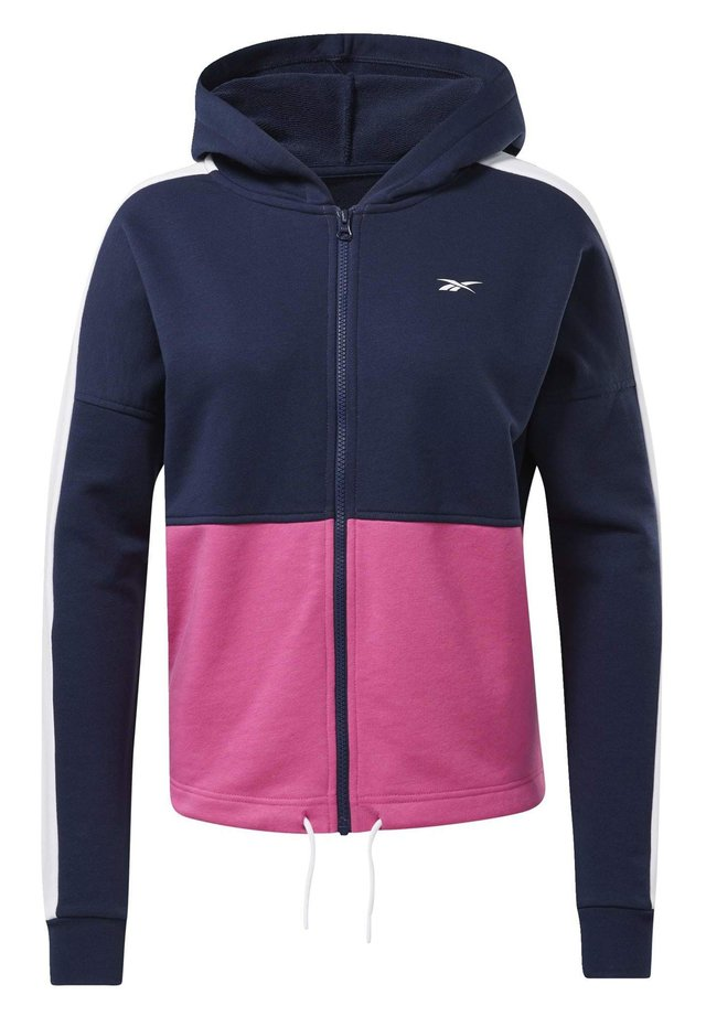 TRAINING ESSENTIALS LOGO HOODIE - veste en sweat zippée - pink