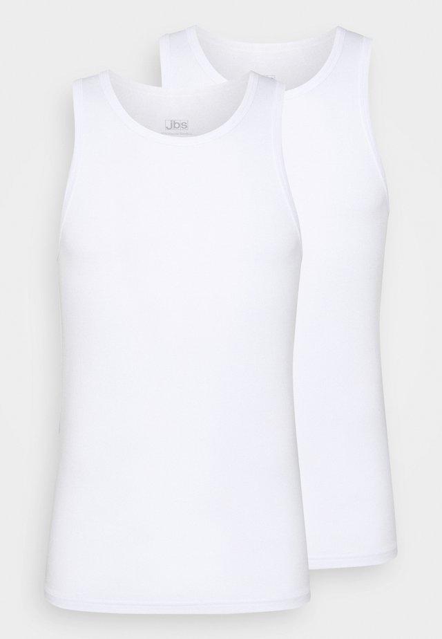 SINGLET 2 PACK - Camiseta interior - weiss