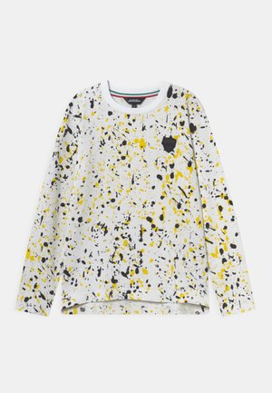 COLOUR DROPPING - Långärmad tröja - white