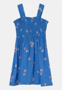 OshKosh - Smocked Floral Dress - Day dress - blue - 1