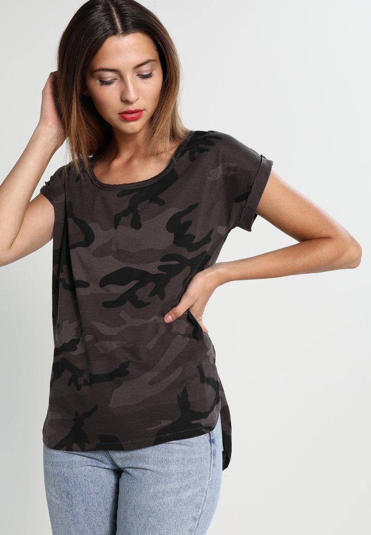 Urban Classics - CAMO  - Print T-shirt - dark green