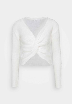 TWIST FRONT JUMPER WITH LONG SLEEVES - Jumper - off white