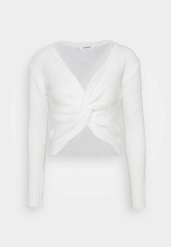 TWIST FRONT JUMPER WITH LONG SLEEVES