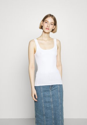 THE ESSENTIAL SCOOP NECK TANK LABEL - Topper - white