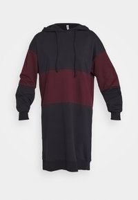 ONLY - ONLDREAMER COLOR BLOCK HOOD DRESS - Day dress - night sky/port royale - 3